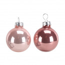 Bauble 60mm, 30 pieces in the box, 2 colors, ro